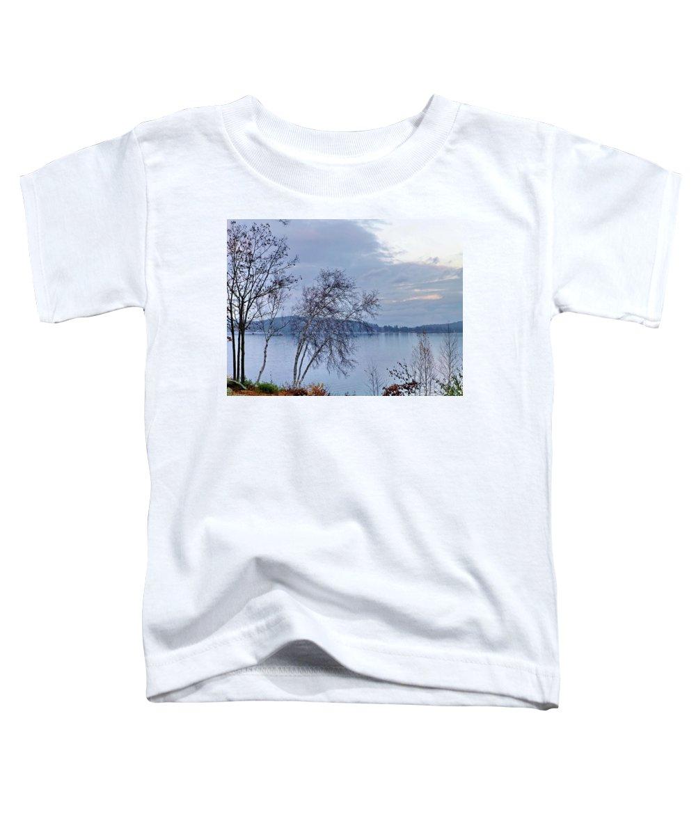Fall Toddler T-Shirt featuring the photograph Sad Autumn Evening by Lyuba Filatova