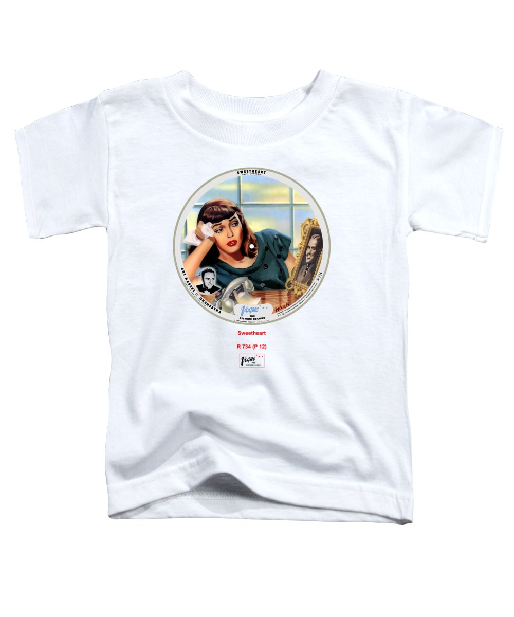 Vogue Picture Record Toddler T-Shirt featuring the digital art Vogue Record Art - R 734 - P 12 by John Robert Beck