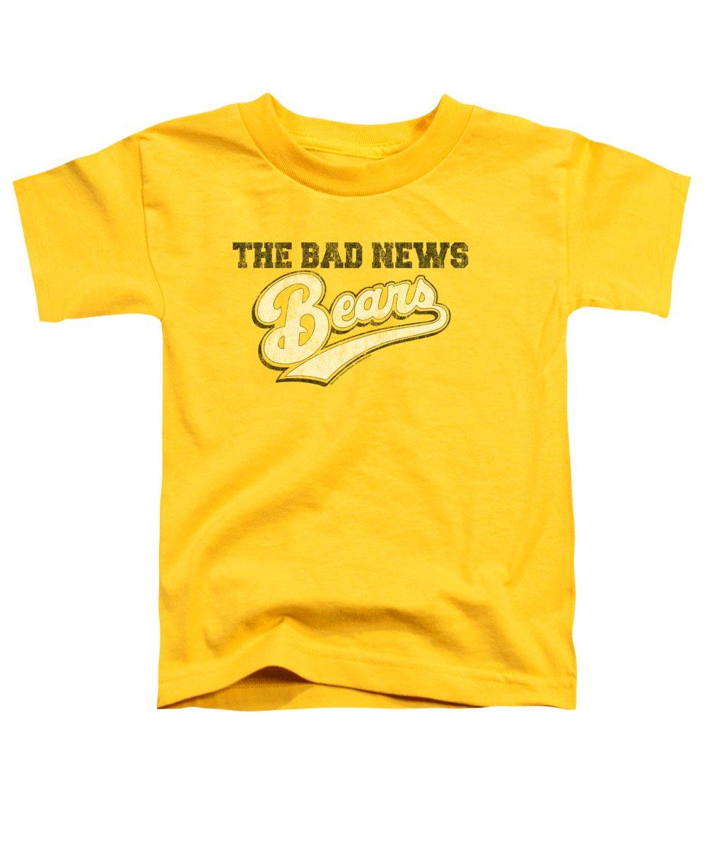 Bad News Bears Toddler T-Shirt featuring the digital art Bad News Bears - Logo by Brand A