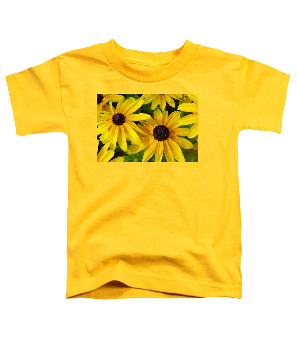 Black Eyed Susan Toddler T-Shirt featuring the photograph Black Eyed Susans by Suzanne Gaff