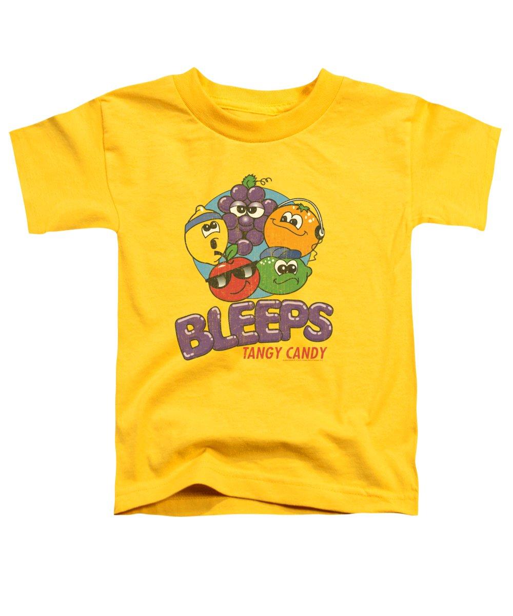 Dubble Bubble Toddler T-Shirt featuring the digital art Dubble Bubble - Bleeps by Brand A