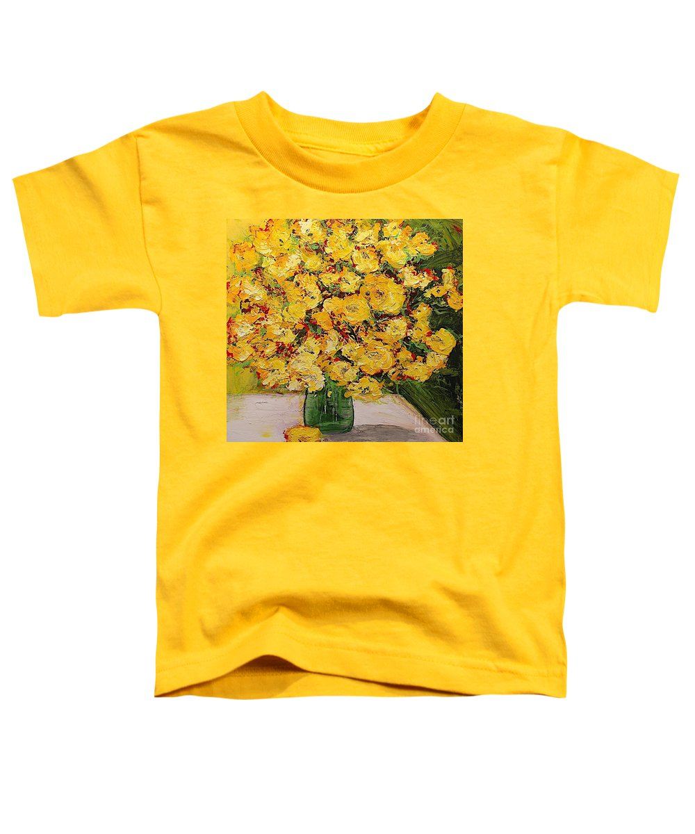 Landscape Toddler T-Shirt featuring the painting New Beginnings by Allan P Friedlander