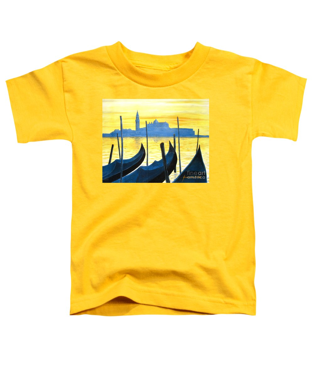 Venice Toddler T-Shirt featuring the painting Venezia Venice Italy by Jerome Stumphauzer
