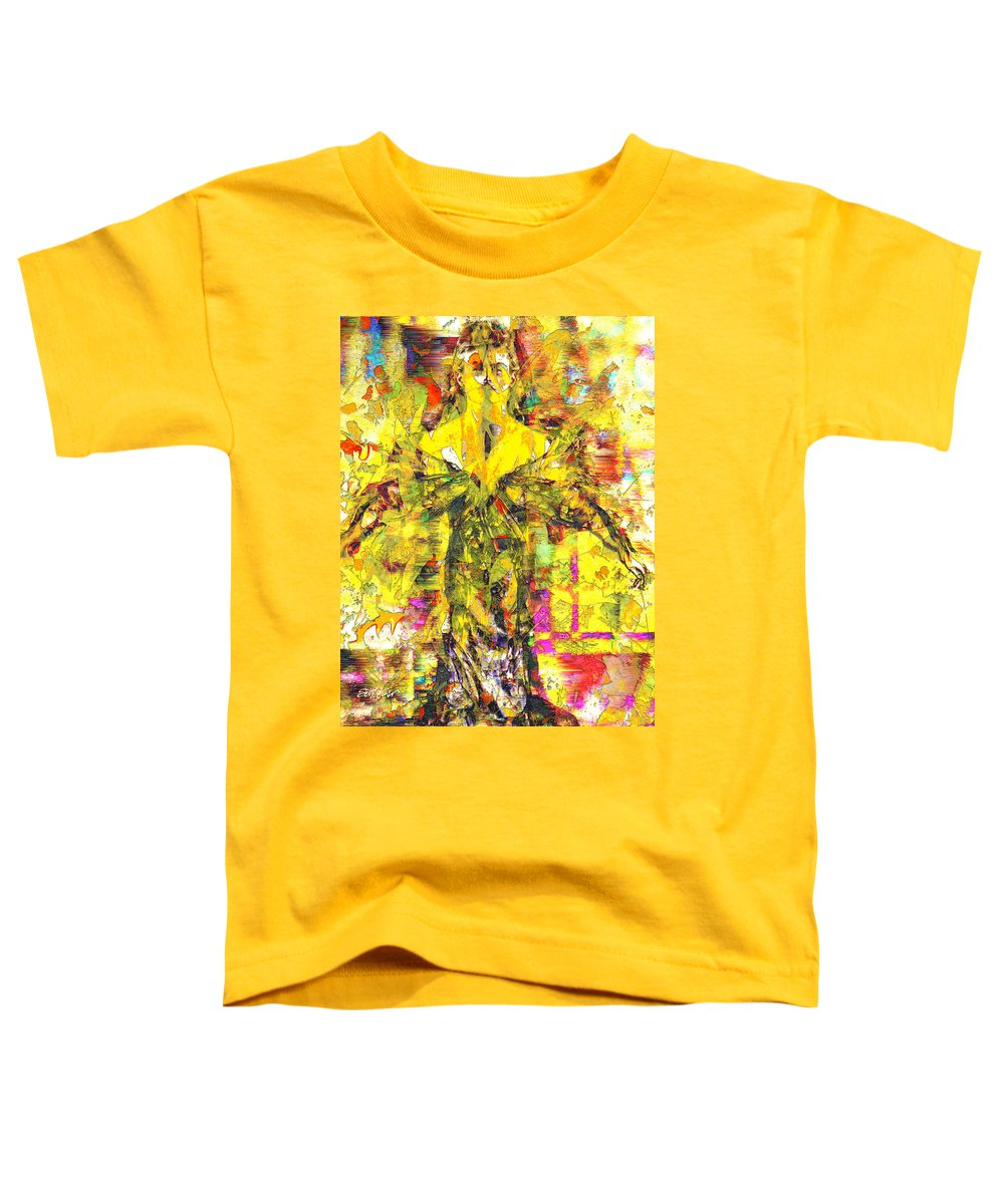 Embrace Of Fall Toddler T-Shirt featuring the digital art Embrace of Fall by Seth Weaver