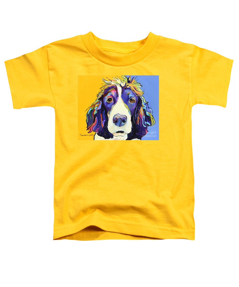 Blue Toddler T-Shirt featuring the painting Sadie by Pat Saunders-White