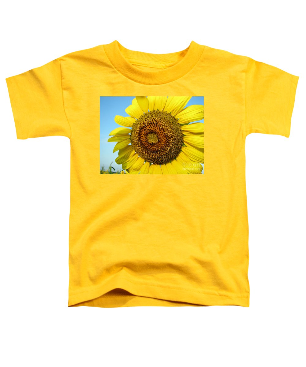 Sunflower Toddler T-Shirt featuring the photograph Sunflower Series by Amanda Barcon
