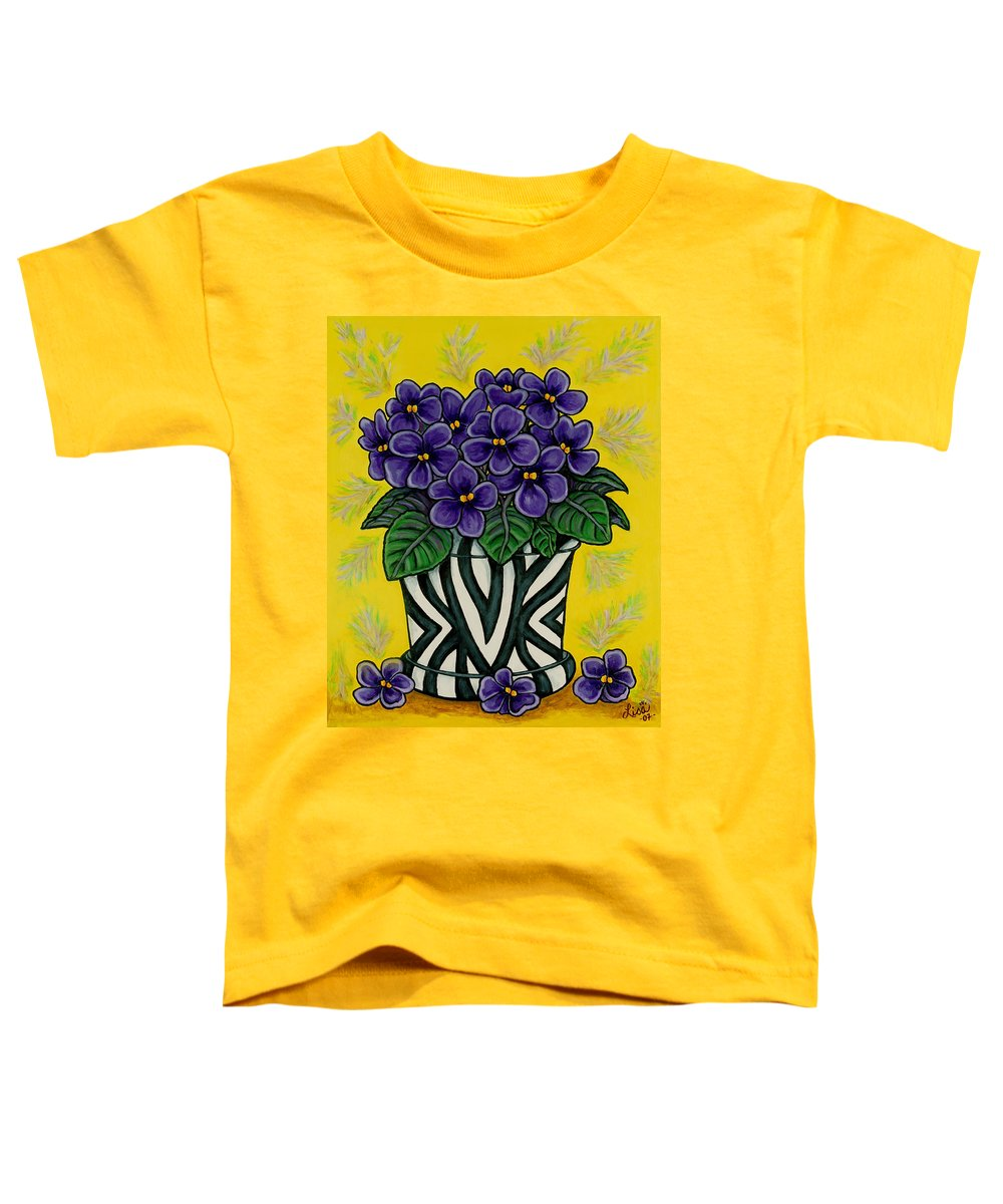 Violets Toddler T-Shirt featuring the painting African Queen by Lisa Lorenz