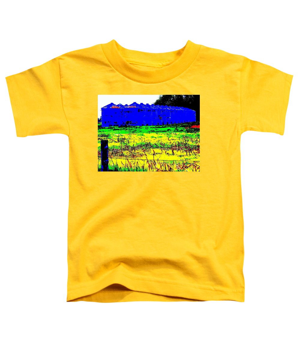 Landscape Toddler T-Shirt featuring the photograph Andys Farm by Ed Smith