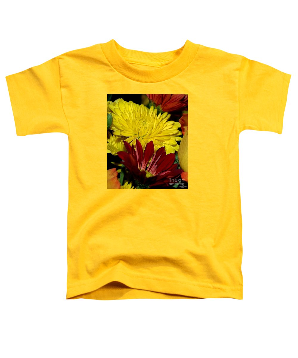 Chrysanthemum Photography Toddler T-Shirt featuring the photograph Autumn Colors by Patricia Griffin Brett