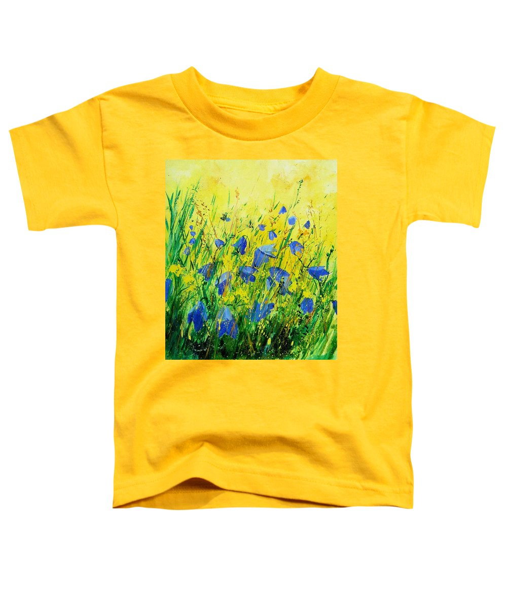 Poppies Toddler T-Shirt featuring the painting Blue Bells by Pol Ledent