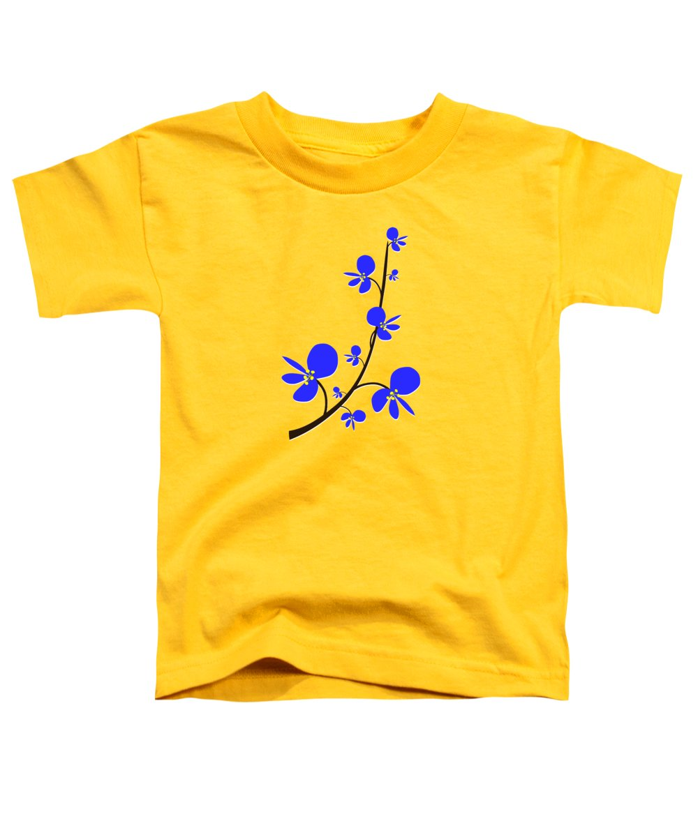 Nature Toddler T-Shirt featuring the digital art Blue Flowers by Anastasiya Malakhova