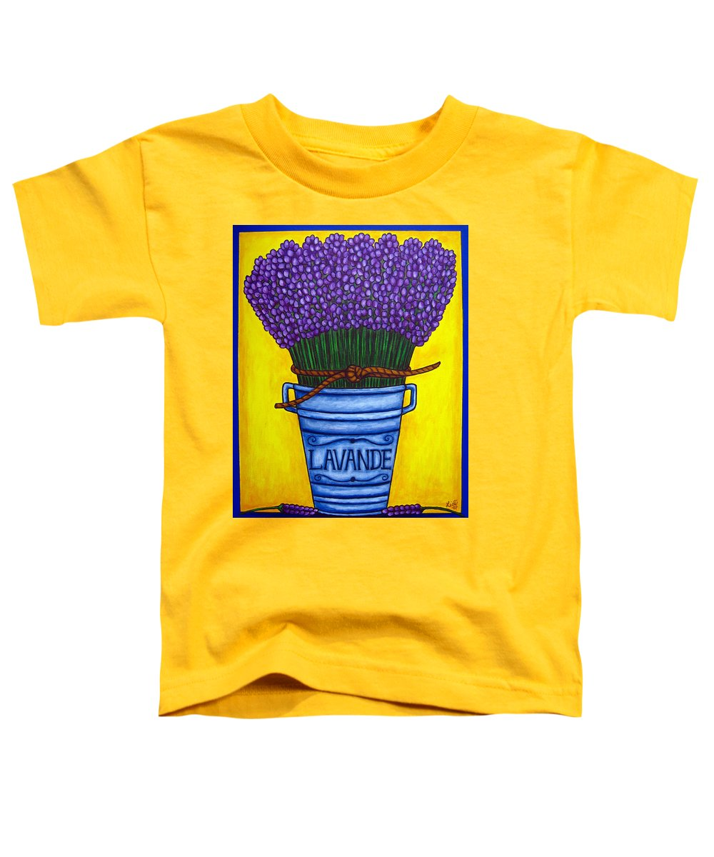 Antique Toddler T-Shirt featuring the painting Colours Of Provence by Lisa Lorenz