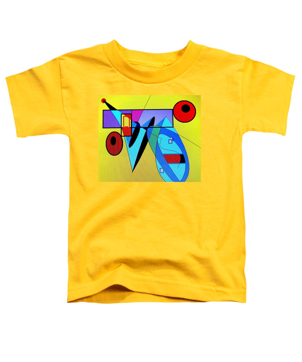 Horn Toddler T-Shirt featuring the digital art Come Blow Your Horn by Ian MacDonald
