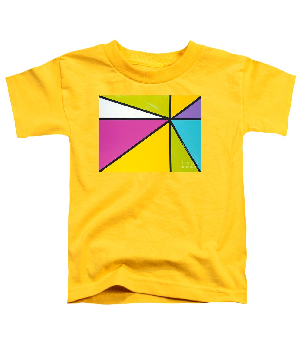 Lines Toddler T-Shirt featuring the painting Convergence by Nadine Rippelmeyer
