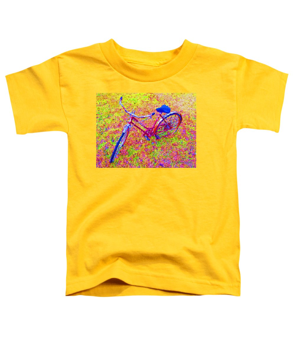 Bike Toddler T-Shirt featuring the photograph Joy, The Bike Ride by Albert Stewart