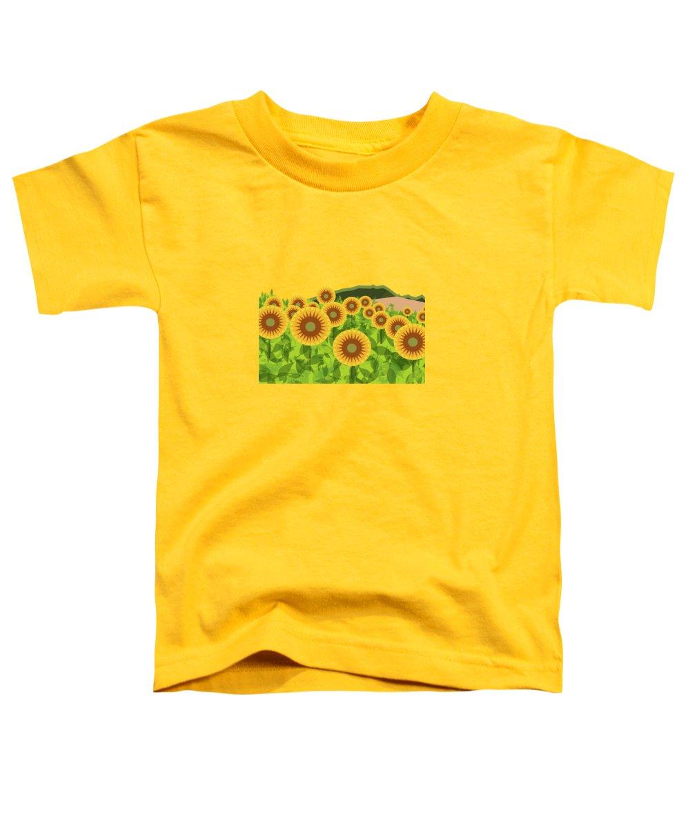Sunflower Toddler T-Shirts
