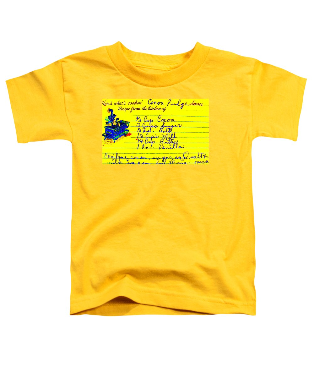 Recipe Toddler T-Shirt featuring the photograph Moms Old Recipe by Ed Smith