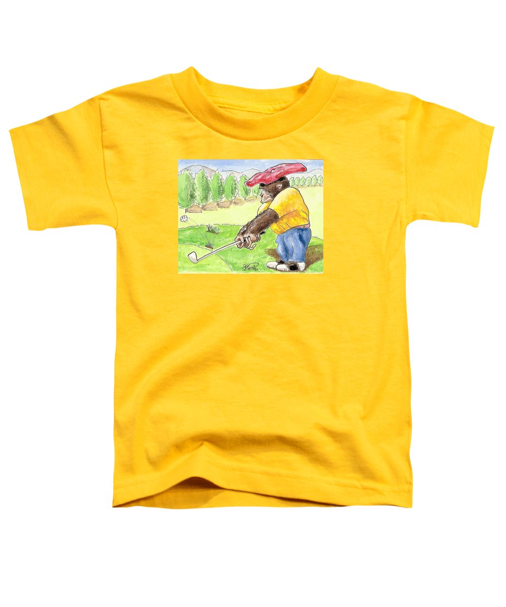 Golf Toddler T-Shirt featuring the painting Oops by George I Perez