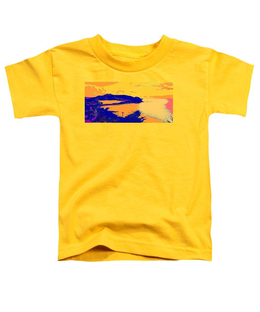 St Kitts Toddler T-Shirt featuring the photograph Peninsula Orange by Ian MacDonald