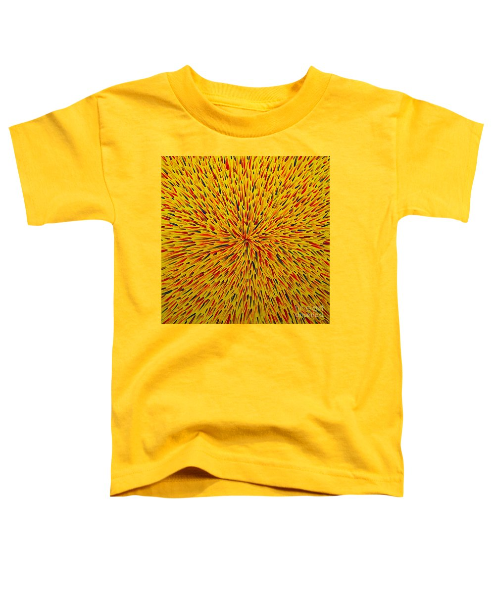Abstract Toddler T-Shirt featuring the painting Radiation Yellow by Dean Triolo