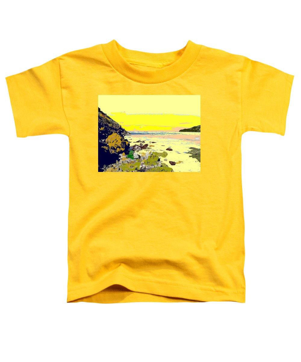 Beach Toddler T-Shirt featuring the photograph Rocky Beach by Ian MacDonald