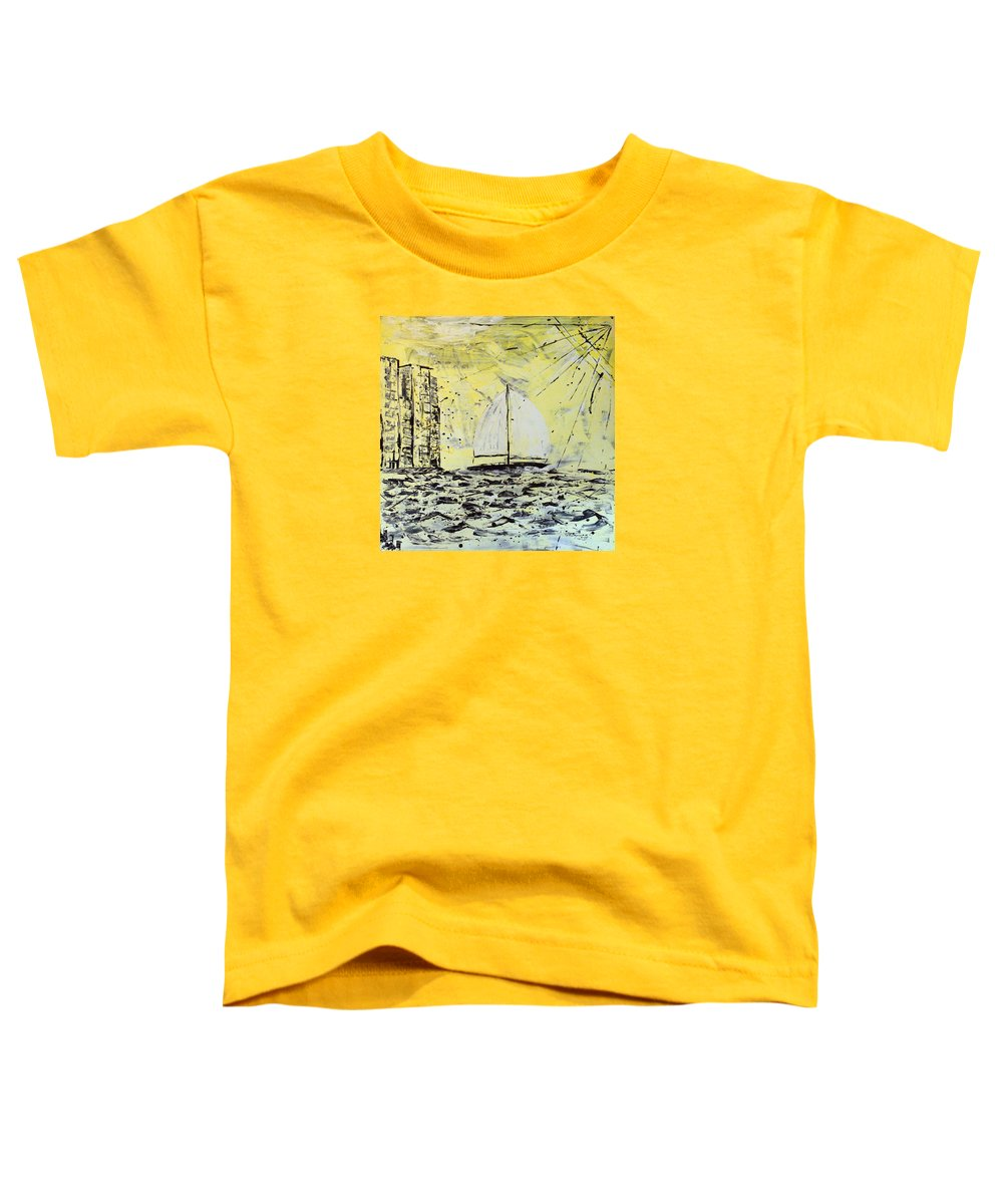 Abstract Toddler T-Shirt featuring the painting Sail And Sunrays by J R Seymour