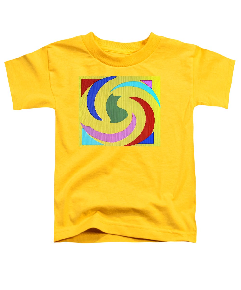 Abstract Toddler T-Shirt featuring the digital art Spiral Three by Ian MacDonald