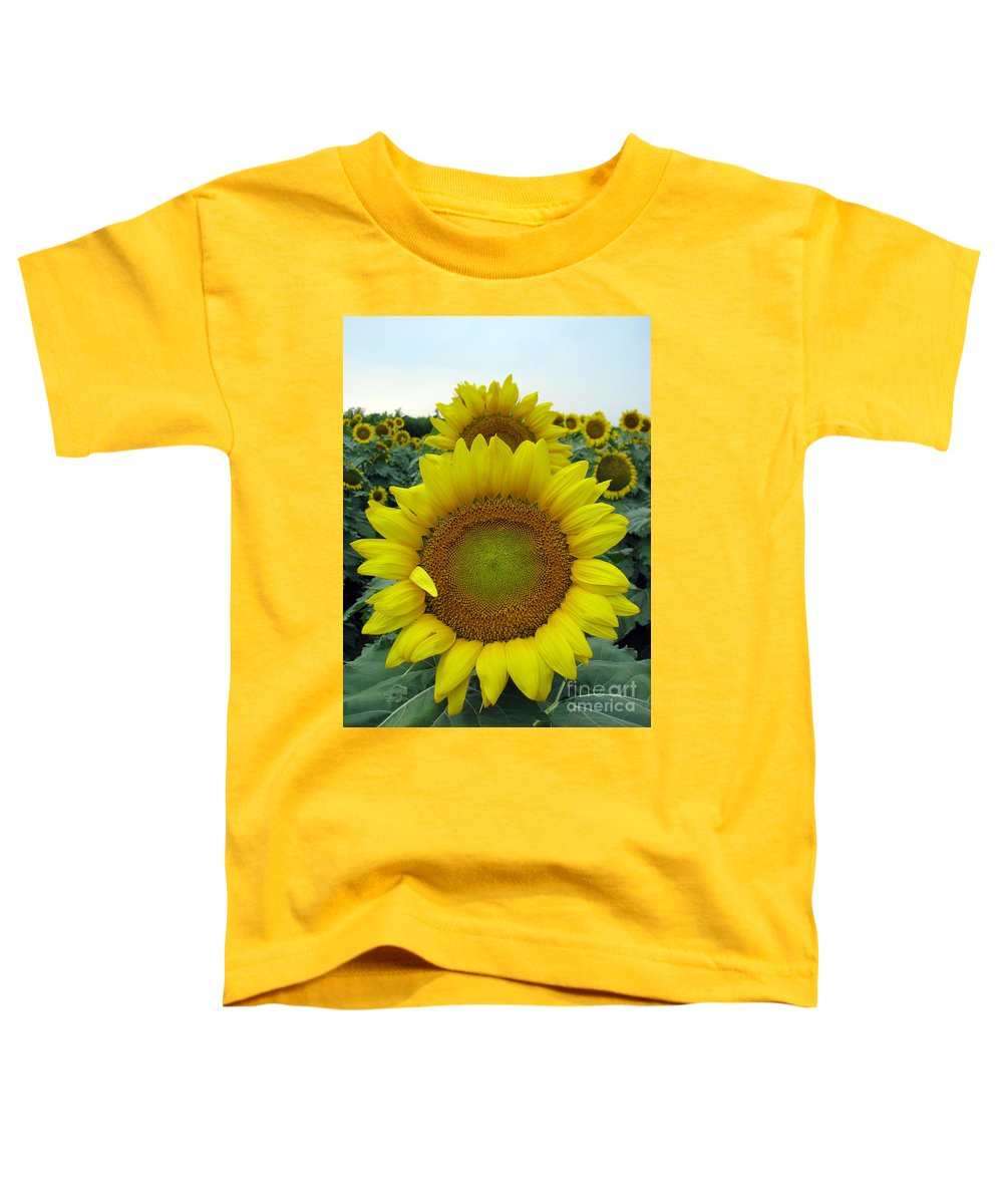 Sunflowers Toddler T-Shirt featuring the photograph Sunflowers by Amanda Barcon