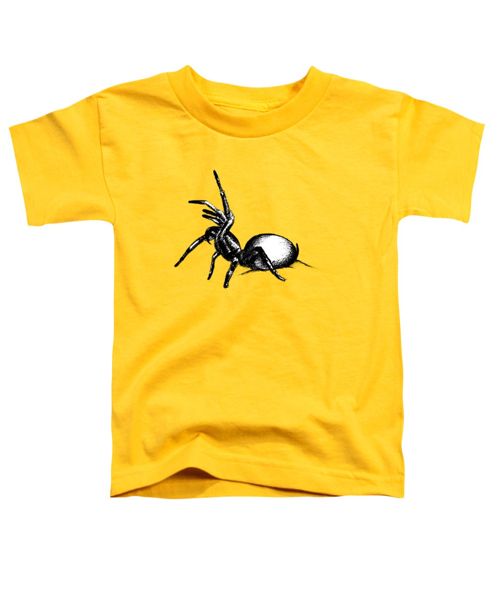 Spider Toddler T-Shirt featuring the drawing Sydney Funnel Web by Nicholas Ely