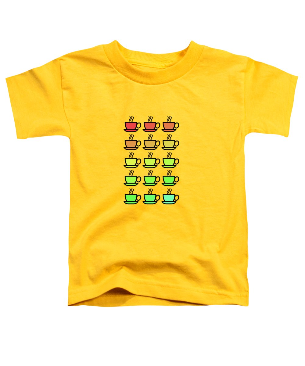 Tea Kettle Toddler T-Shirt featuring the photograph Tea Cups by Mark Rogan