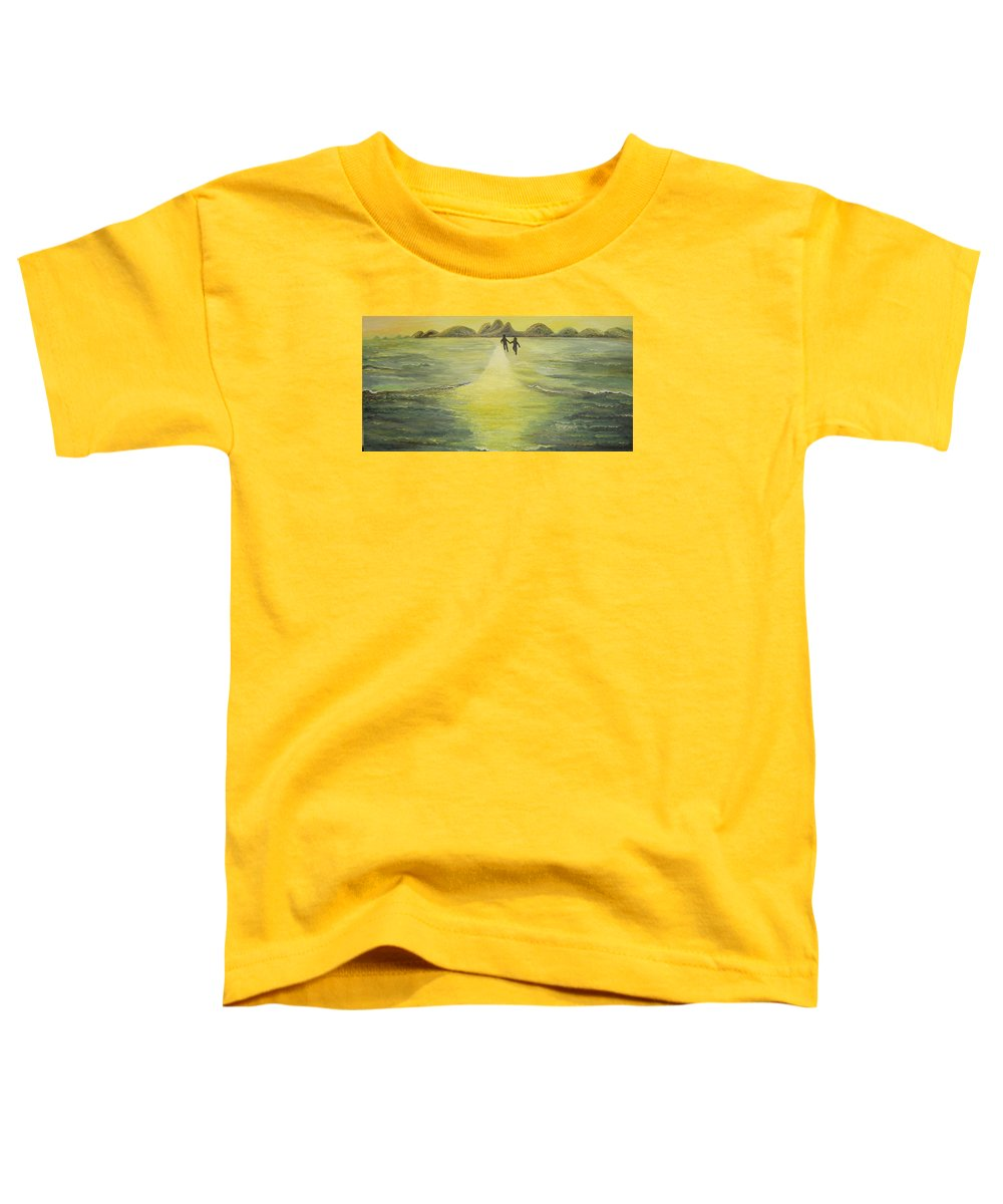 Soul Toddler T-Shirt featuring the painting The Road In The Ocean Of Light by Karina Ishkhanova