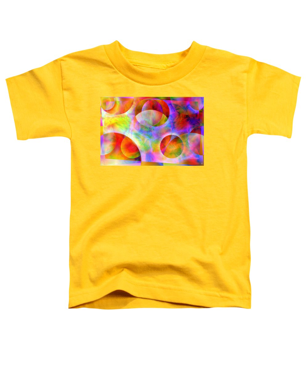Colors Toddler T-Shirt featuring the digital art Vision 29 by Jacques Raffin
