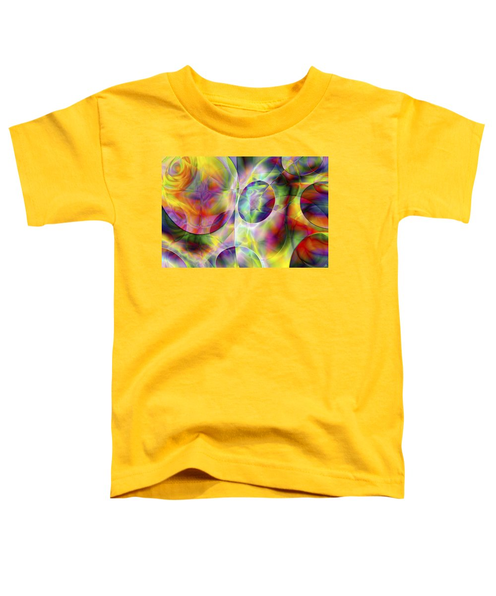 Colors Toddler T-Shirt featuring the digital art Vision 36 by Jacques Raffin