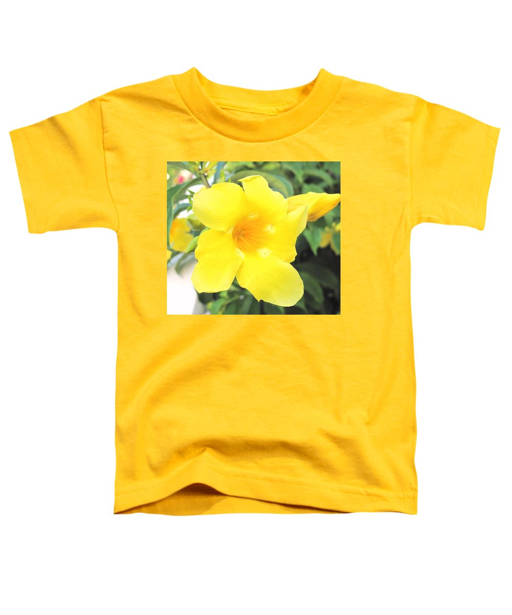 Yellow Toddler T-Shirt featuring the photograph Yellow Hibiscus St Kitts by Ian MacDonald