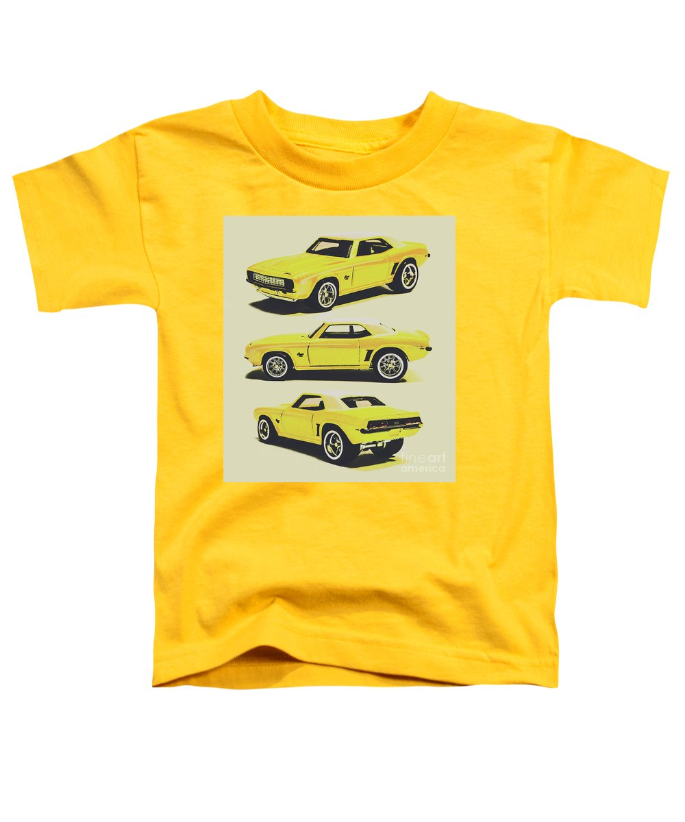 Camaro Toddler T-Shirt featuring the photograph 1969 Camaro by Jorgo Photography - Wall Art Gallery