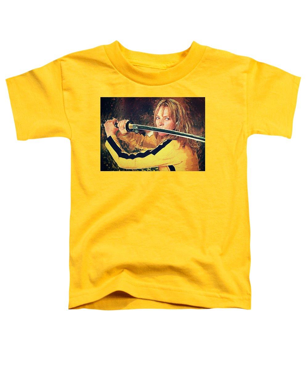 The Bride Toddler T-Shirt featuring the digital art Beatrix Kiddo - Kill Bill by Zapista OU