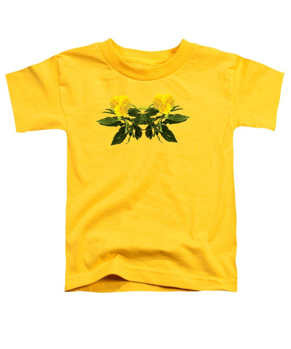Wall Art Toddler T-Shirt featuring the digital art Beautiful Yellow Flower by Anita Morya