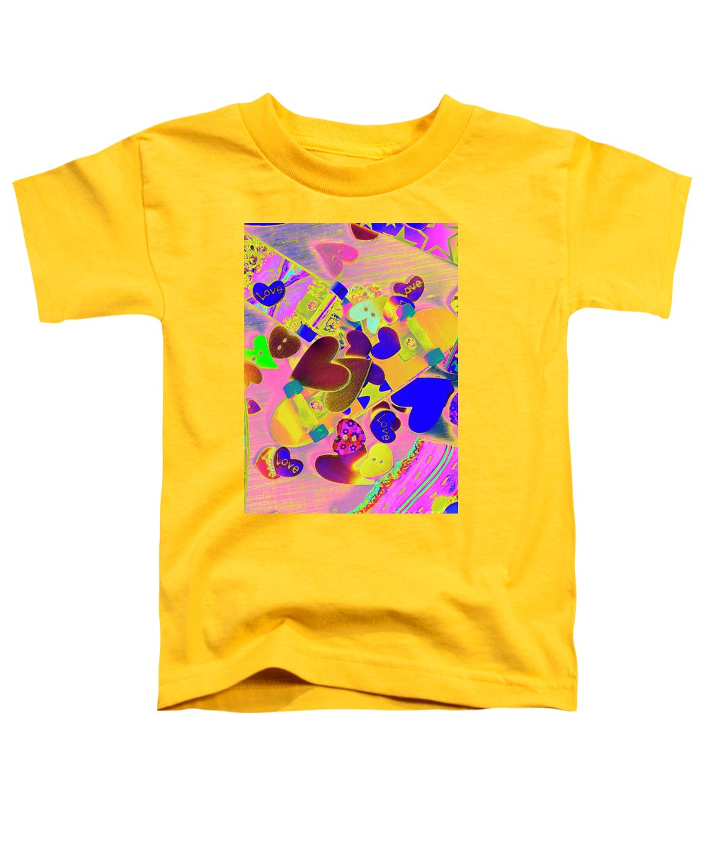 Funky Toddler T-Shirt featuring the photograph Heart Stack - Fallen For Sk8 by Jorgo Photography - Wall Art Gallery