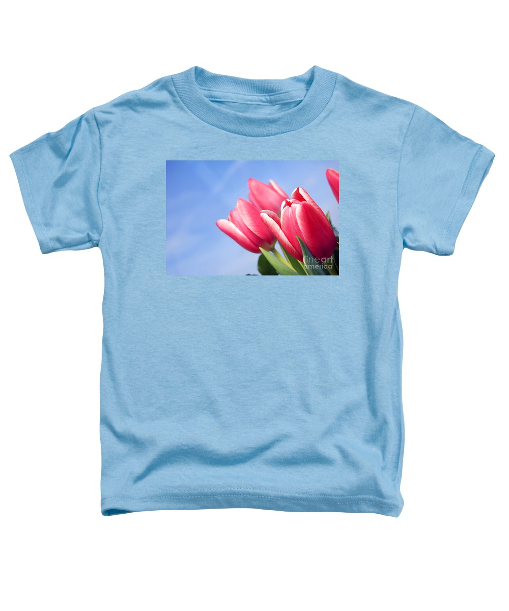 Background Toddler T-Shirt featuring the photograph Tulips Background by Michal Bednarek
