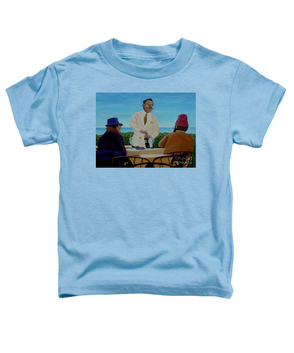 Wine Toddler T-Shirt featuring the painting A Fresh Bottle by Anthony Dunphy