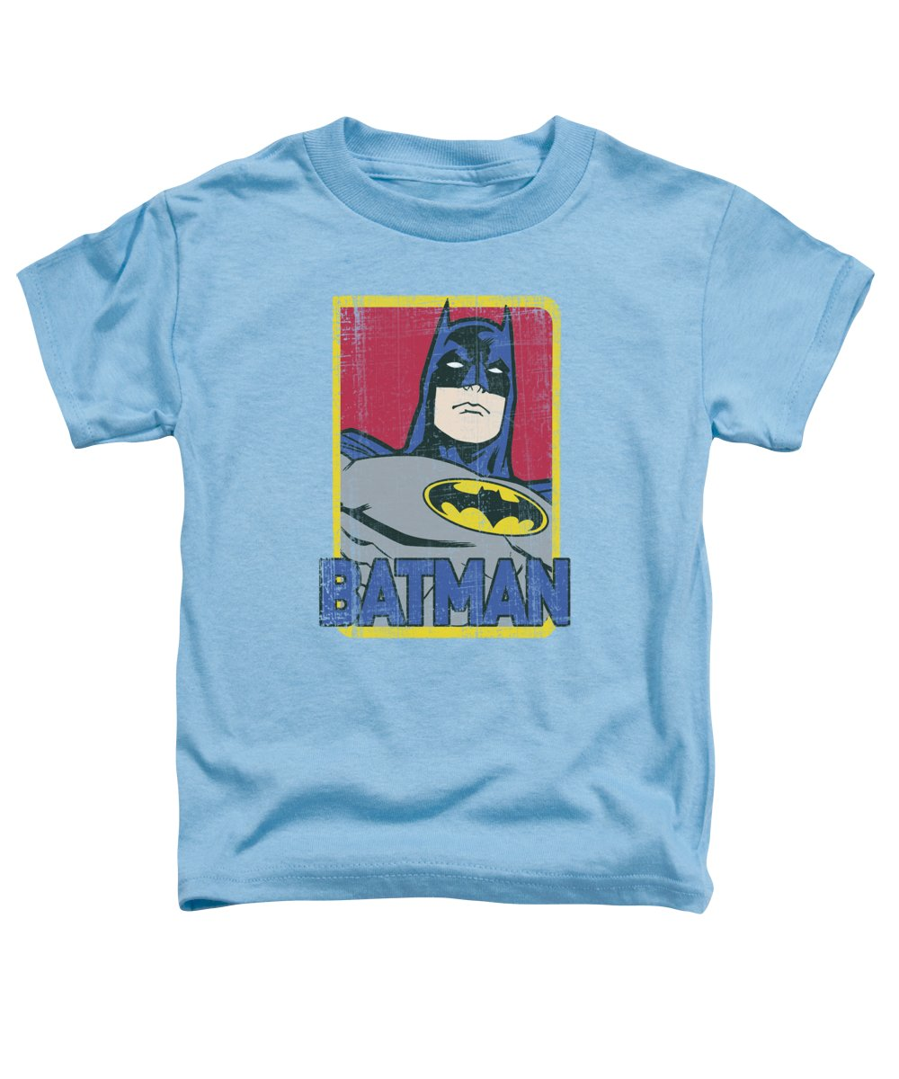 Batman Toddler T-Shirt featuring the digital art Batman - Primary by Brand A