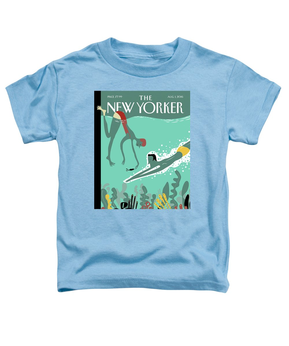 Beneath The Waves Toddler T-Shirt featuring the painting Beneath The Waves by Frank Viva