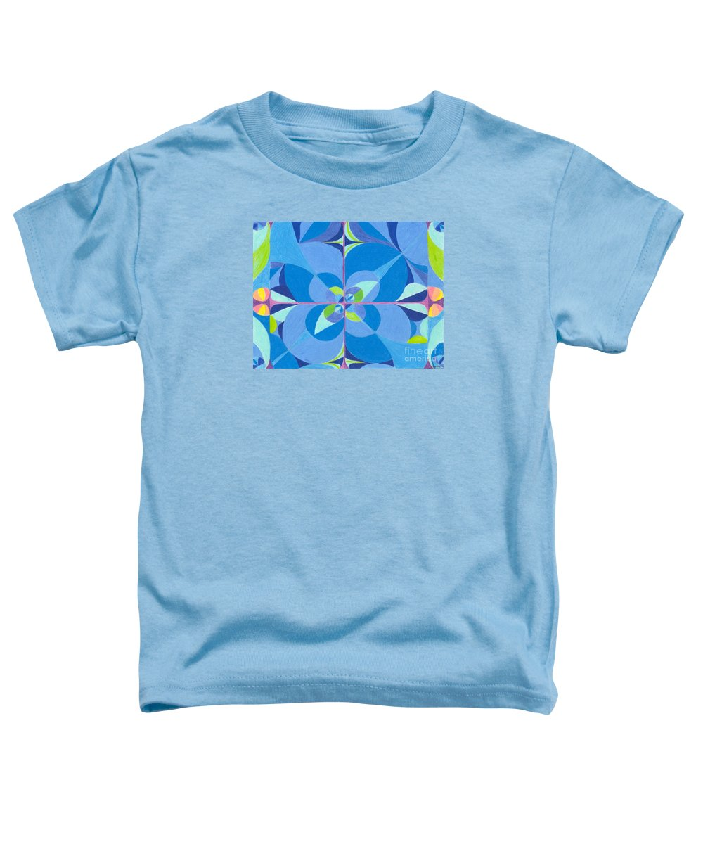 Color Toddler T-Shirt featuring the drawing Blue Unity by Kim Sy Ok