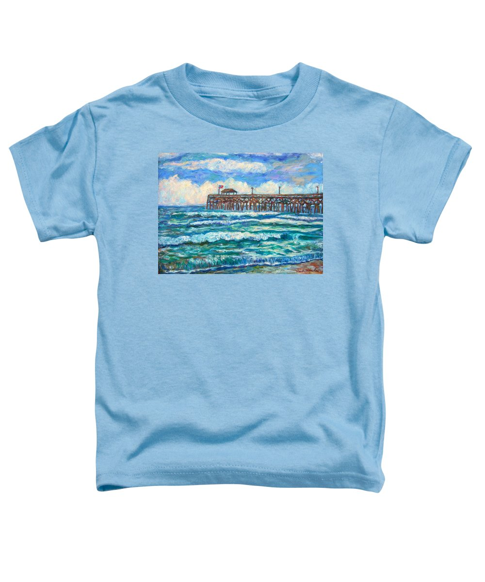 Shore Scenes Toddler T-Shirt featuring the painting Breakers At Pawleys Island by Kendall Kessler