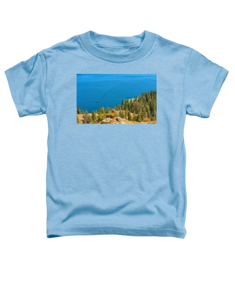 Jackson Toddler T-Shirt featuring the photograph Cruising Jenny Lake by John M Bailey