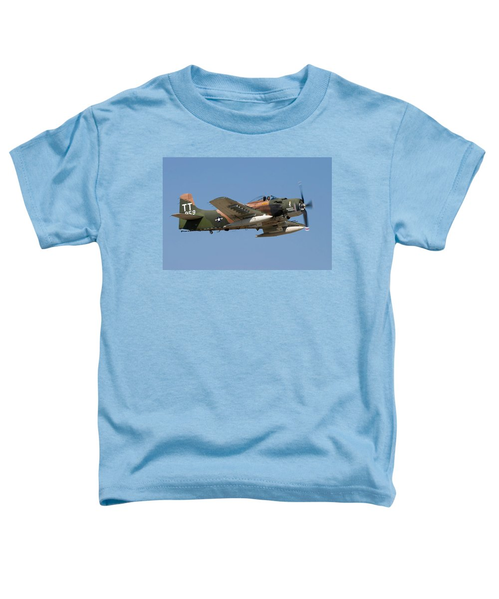3scape Toddler T-Shirt featuring the photograph Douglas Ad-4 Skyraider by Adam Romanowicz