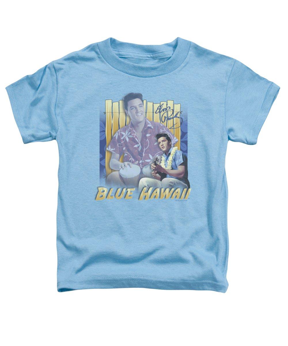 Elvis Toddler T-Shirt featuring the digital art Elvis - Blue Hawaii by Brand A