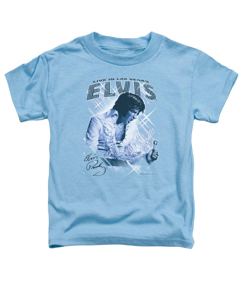 Elvis Toddler T-Shirt featuring the digital art Elvis - Blue Vegas by Brand A