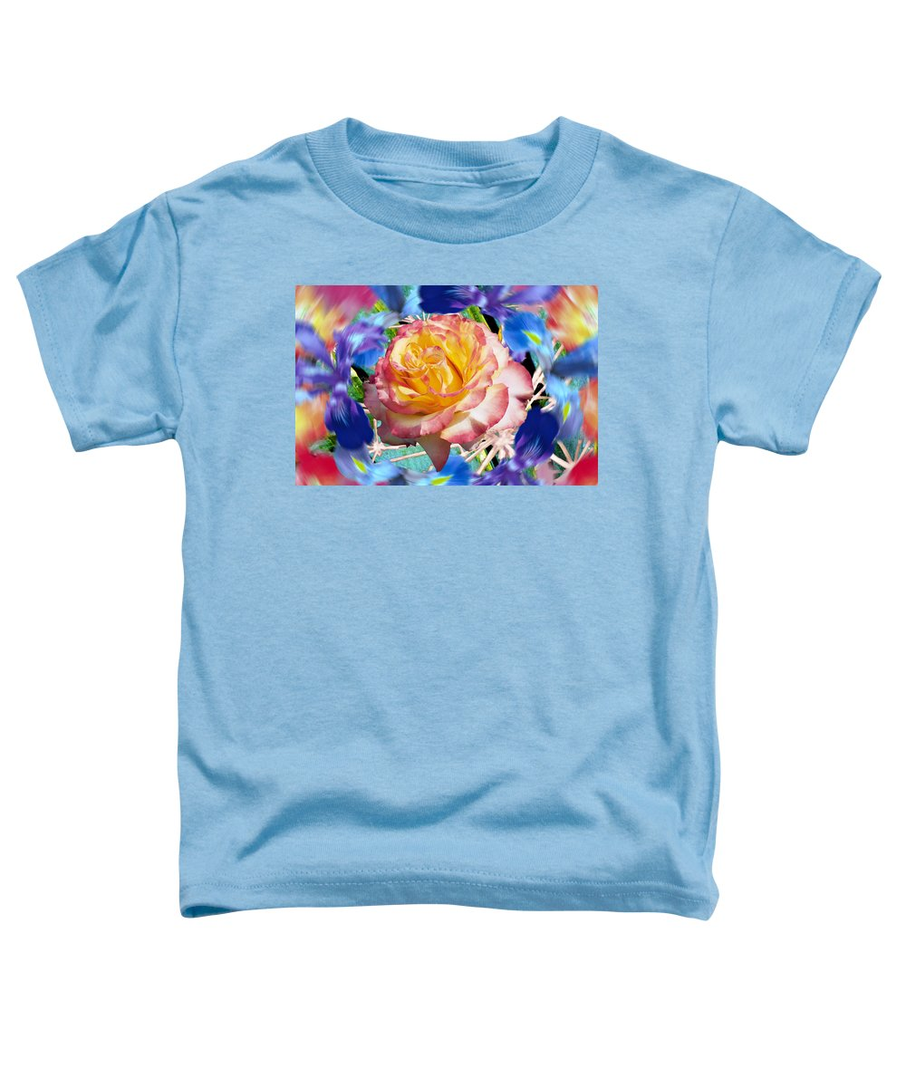 Flowers Toddler T-Shirt featuring the digital art Flower Dance 2 by Lisa Yount