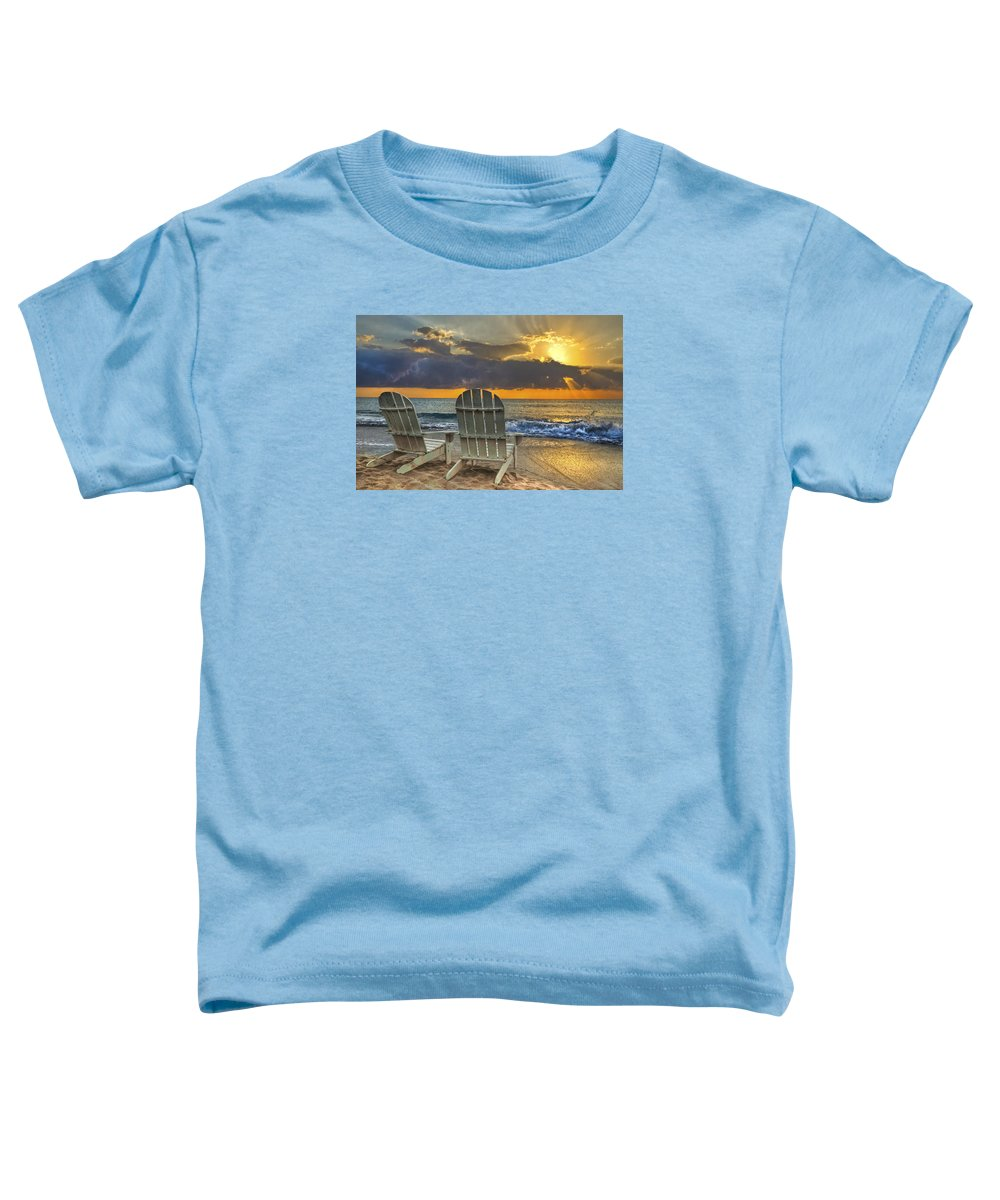 Zen Toddler T-Shirt featuring the photograph In The Spotlight by Debra and Dave Vanderlaan